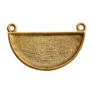 Grande Pendant Half Circle<br>Antique Gold