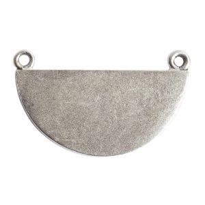 Grande Pendant Half CircleAntique Silver