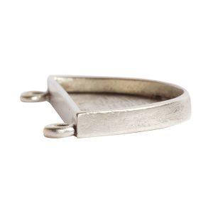 Grande Pendant Half Circle<br>Antique Silver