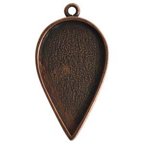 Grande Pendant Inverted Drop Single LoopAntique Copper