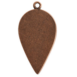 Grande Pendant Inverted Drop Single LoopAntique Copper