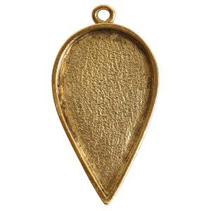 Grande Pendant Inverted Drop Single LoopAntique Gold