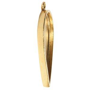 Grande Pendant Inverted Drop Single Loop<br>Antique Gold
