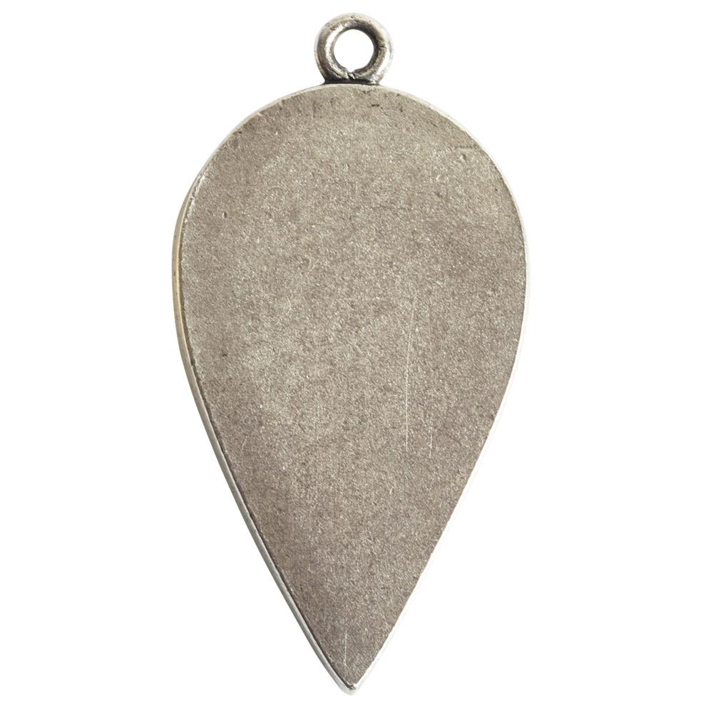 Grande Pendant Inverted Drop Single LoopAntique Silver