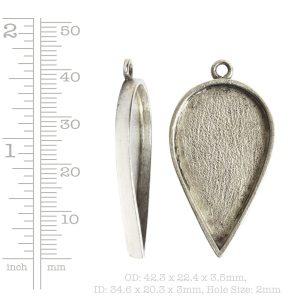 Grande Pendant Inverted Drop Single Loop<br>Antique Silver