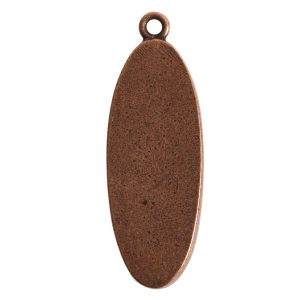 Grande Pendant Oval Narrow Single LoopAntique Copper