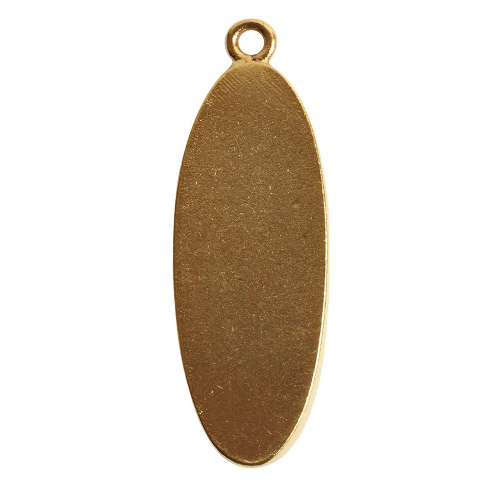 Grande Pendant Oval Narrow Single LoopAntique Gold