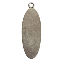 Grande Pendant Oval Narrow Single LoopAntique Silver