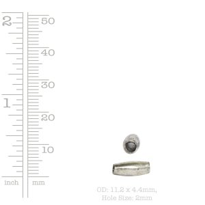 Metal Bead Double Cone 11x4mm<br>Antique Silver