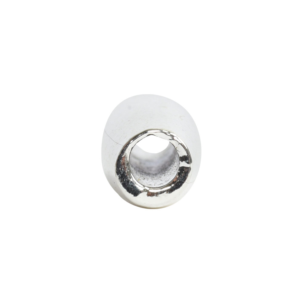 Metal Bead Double Cone 11x4mmSterling Silver Plate