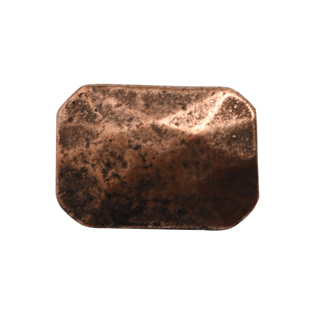 Metal Bead Faceted Rectangle 13x9mmAntique Copper