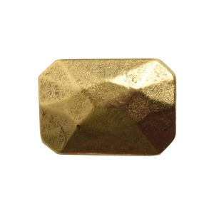 Metal Bead Faceted Rectangle 13x9mmAntique Gold