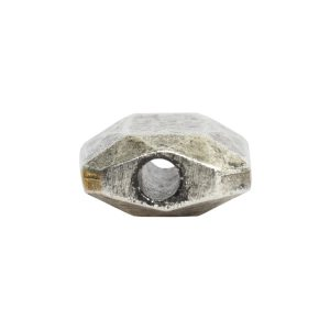 Metal Bead Faceted Rectangle 13x9mmAntique Silver