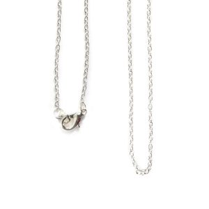 Necklace Delicate Link Cable Chain 18 InchSterling Silver Plate