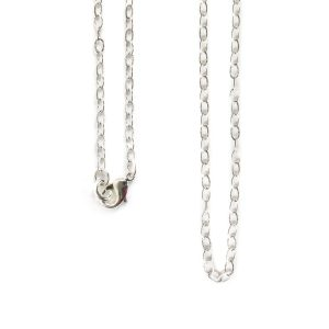 Necklace Fine Textured Cable Chain 18 Inch<br>Sterling Silver Plate