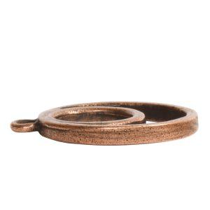 Open Pendant Split Large Cirlce Eclipse Single LoopAntique Copper