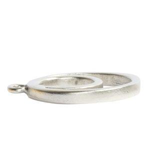 Open Pendant Split Large Cirlce Eclipse Single LoopAntique Silver