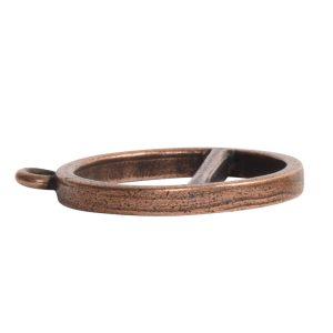 Open Pendant Split Large Cirlce Horizon Single LoopAntique Copper
