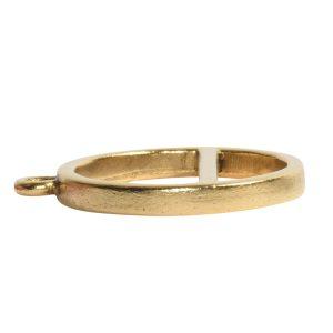 Open Pendant Split Large Cirlce Horizon Single Loop<br>Antique Gold