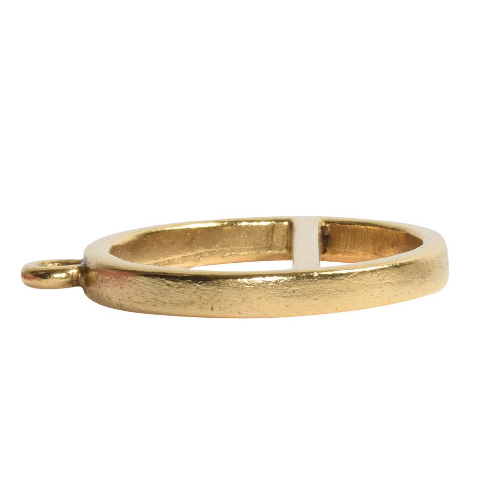 Open Pendant Split Large Cirlce Horizon Single LoopAntique Gold