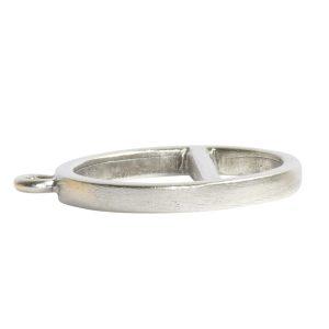 Open Pendant Split Large Cirlce Horizon Single LoopAntique Silver