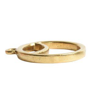 Open Pendant Split Large Cirlce Sunrise Single LoopAntique Gold