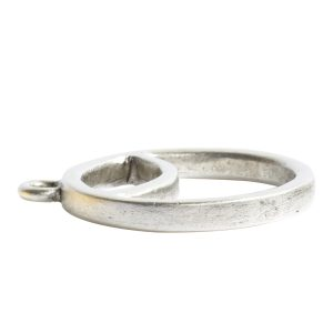 Open Pendant Split Large Cirlce Sunrise Single LoopAntique Silver