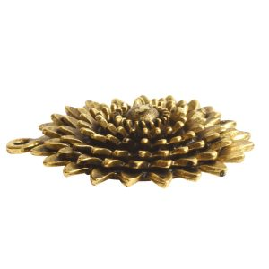 Pendant Charm Large Daisy Single Loop<br>Antique Gold