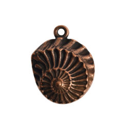 Pendant Charm Small Nautilus Single LoopAntique Copper