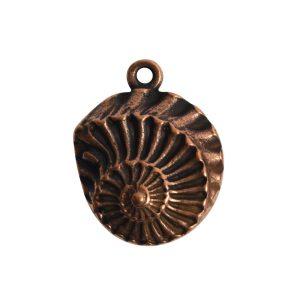 Pendant Charm Small Nautilus Single LoopAntique Copper