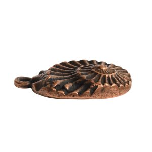 Pendant Charm Small Nautilus Single Loop<br>Antique Copper