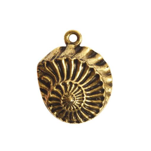 Pendant Charm Small Nautilus Single LoopAntique Gold
