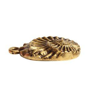 Pendant Charm Small Nautilus Single Loop<br>Antique Gold