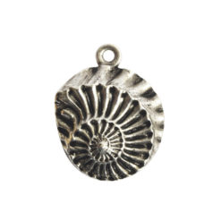 Pendant Charm Small Nautilus Single LoopAntique Silver
