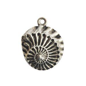 Pendant Charm Small Nautilus Single LoopAntique Silver