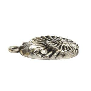 Pendant Charm Small Nautilus Single Loop<br>Antique Silver