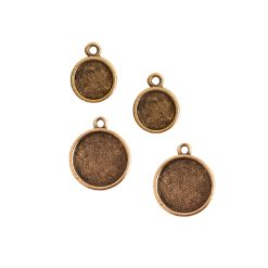 Buy & Try Findings Itsy & Mini Link Single Loop Circle Combo PackAntique Gold