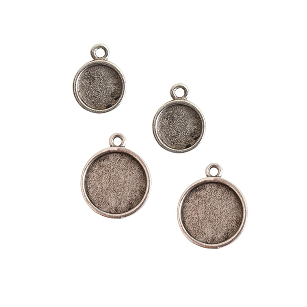 Buy & Try Findings Itsy & Mini Link Single Loop Circle Combo PackAntique Silver