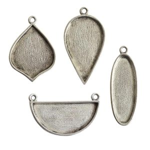 Buy & Try Findings Grande Pendant Combo PackAntique Silver