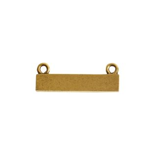 Itsy Link Double Loop Rectangle HorizontalAntique Gold