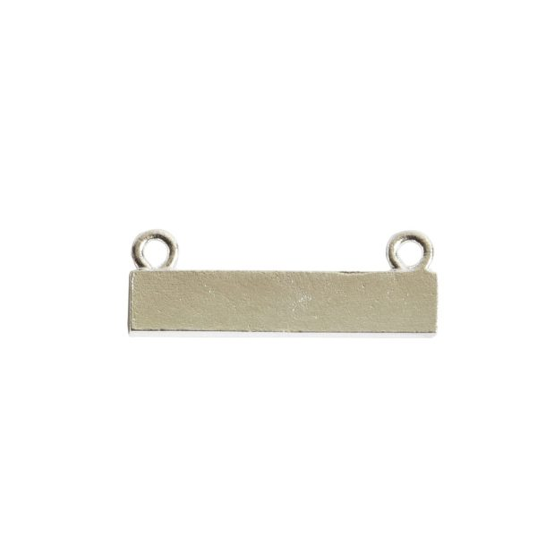 Itsy Link Double Loop Rectangle HorizontalSterling Silver Plate