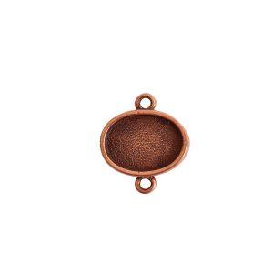 Mini Link Double Loop Oval HorizontalAntique Copper