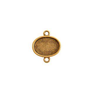 Mini Link Double Loop Oval HorizontalAntique Gold