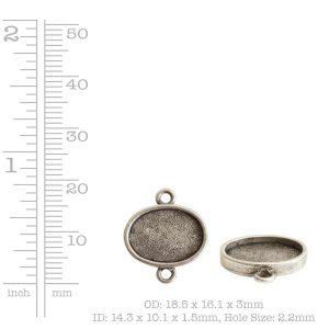 Mini Link Double Loop Oval Horizontal