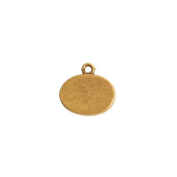 Mini Link Single Loop Oval HorizontalAntique Gold