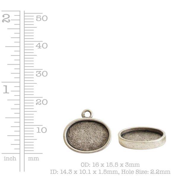Mini Link Single Loop Oval Horizontal