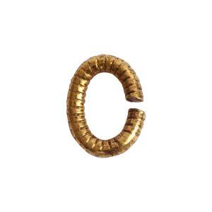 Jumpring 6mm Textured OvalAntique Gold