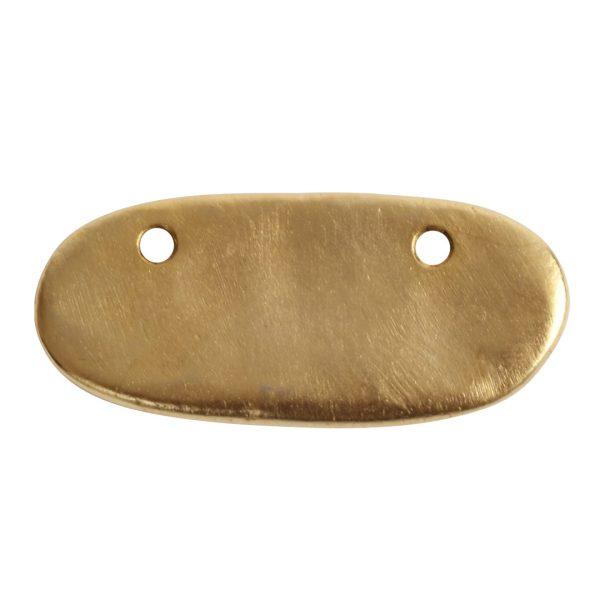 Primitive Tag Small Elongated Oval HorizontalAntique Gold
