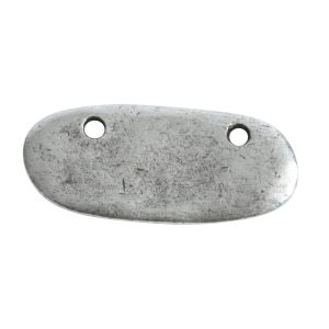Primitive Tag Small Elongated Oval Horizontal<br>Antique Silver