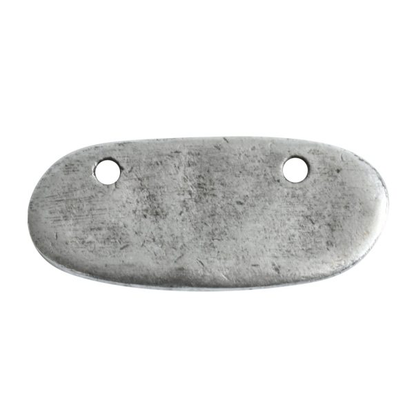 Primitive Tag Small Elongated Oval HorizontalAntique Silver